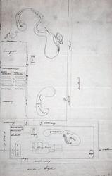 XXXI-278-2 Schetskaart van de buitenplaats Vredehof, benoorden de Oudedijk