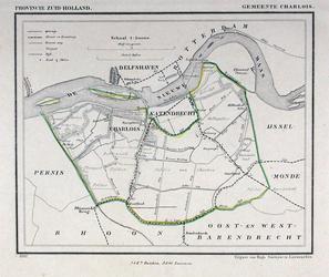 XXXI-34 Kaart van de gemeenten Charlois en Katendrecht