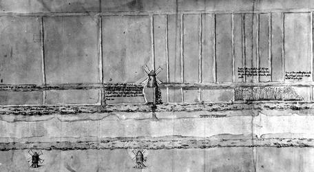 XXXI-369-01-02 Kaart van een gedeelte van de Delftse Schie en omgeving tot aan de Poldervaart