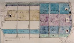 XXXI-370 Plattegrond van enige te verkopen landerijen in de polder Zestienhoven, behorende tot de boerderijen ...