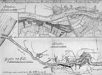 XXXI-477-01 Kaart van de Nieuwe Maas en de Nieuwe Waterweg, met weergave van de handels- en fabrieksterreinen van de ...