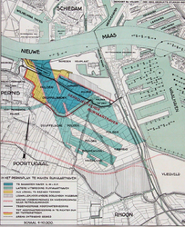 XXXI-499 Plankaart voor een te graven Rijnvaarthaven ten westen van de Waalhaven, ter plaatse van de huidige Eemhaven, ...