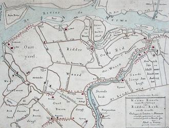 XXXI-590-01 Kopie van een kaart van de heerlijkheid Ridderkerk