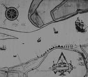 XXXI-597-02-06 Kaart van het zuidwestelijke deel van Rozenburg en het noordelijke deel van de Polder van Zwartewaal