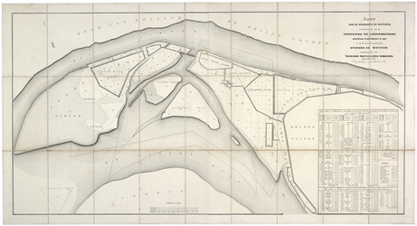 XXXI-597-04-01 Kaart van zandplaten tussen Hoek van Holland en Voorne