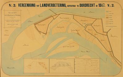 XXXI-597-04-02 Kaart van zandplaten en polders tussen de Nieuwe Maas [thans Brielse Maas] en het Scheur een een ...