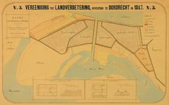 XXXI-597-04-03 Kaart van zandplaten en polders tussen de Nieuwe Maas [thans Brielse Maas] en het Scheur, met tekeningen ...