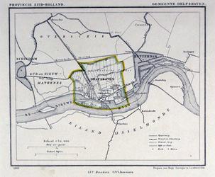 XXXI-62 Plattegrond van de gemeente Delfshaven