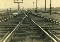 FD-3174 Detailsopname van rails bij het rangeerterrein IJsselmonde NS.