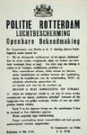 2001-1110 Oproep van commissaris van politie J.A. Kok aan de bevolking van Rotterdam om beschermende maatregelen te ...