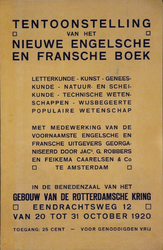 2002-1411 Aankondiging van de tentoonstelling van het Nieuwe Engelse en Fransche Boek in het gebouw van De ...