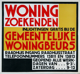2002-1425 Informatie voor woningzoekenden door de Gemeentelijke Woningbeurs.