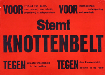 2002-1426 Verkiezingsaffiche Stemt Knottenbelt.