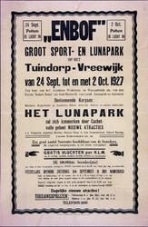 2002-1430 Aankondiging van een sport- en lunapark in Tuindorp-Vreewijk door het Enbof, Eerste Nederlandsche Bond van ...