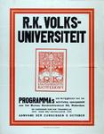 2002-1432 Aankondiging programma, opening inschrijving en aanvang cursussen door de R.K. Volksuniversiteit.