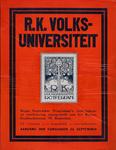 2002-1433 Aankondiging programma, opening inschrijving en aanvang cursussen door de R.K. Volksuniversiteit.