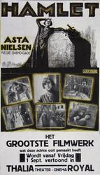 2002-1485 Aankondiging van de film Hamlet met Anita Nielsen in Thalia Royal.