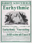 2002-1494 Aankondiging van een eurhythmie voorstelling in de Groote Schouwburg.