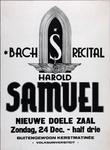 2002-1502 Aankondiging van concert in de nieuwe Doele Zaal door pianist Harold Samuel, op initiatief van de ...