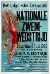 2002-1506 Aankondiging Nationale Zwemwedstrijd door de Rotterdamsche Zwemclub.