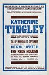 2002-1508 Aankondiging rede gehouden door Katherine Tingley bij het Universeele Broederschap en Theosopisch Genootschap ...