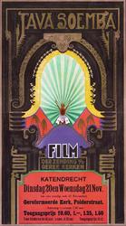 2002-1523 Aankondiging van Java Soemba, film der zending van de gereformeerde kerken, in de Polderstraatkerk te Katendrecht.