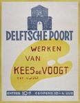 2002-1538 Aankondiging tentoonstelling Werken van Kees de Voogt in de Delftsche Poort.