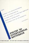 2002-287 Aankondiging van Poetry in het Park en van Poetry International in de Doelen. Op het affiche de tekst van het ...