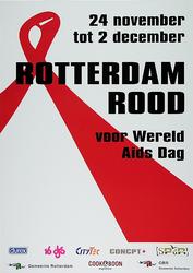 2006-46 24 november tot 2 december. Rotterdam rood. Voor Wereld Aids Dag.....