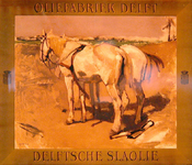 G-0000-0028 Delftsche Slaolie. Oliefabriek Delft.