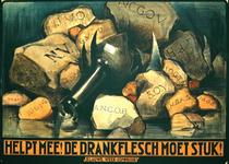 G-0000-0180 Helpt mee! De drankfles moet stuk! Blauwe week-commissie .