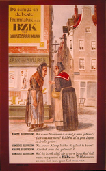 G-0000-0193 Louis Dobbelmann Rotterdam. De eenige en de beste Pruimtabak is de B.Z.K. van Louis Dobbelmann.