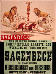 G-0000-0318 Hagenbeck. De grootste circusmenagerie. Rotterdam Veemarkt.