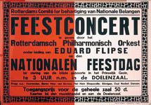 G-0000-0356 Rotterdams Comité ter behartiging van Nationale Belangen. Feestconcert door het Rotterdamsch Philharmonisch ...
