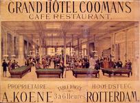 G-0000-0401 Interieur van café-restaurant van Grand Hôtel Coomans aan de Hoofdsteeg.