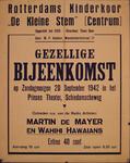 G-0000-0433 Rotterdams Kinderkoor De Kleine Stem [Centrum]. Gezellige bijeenkomst op zondagmorgen 20 september 1942 in ...