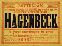 G-0000-0460 Rotterdam Veemarkt. Opening woensdag 29 januari...Hagenbeck...dressuren.