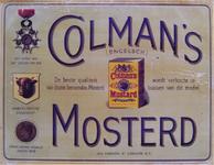 G-0000-0540 Colman's Mosterd. De beste qualiteit van dezen beroemden mosterd wordt verkocht in bussen van dit model.