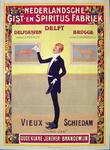 G-0000-0575 Nederlandsche Gist- en Spiritus Fabriek Delfshaven, Delft, Brugge. Vieux Schiedam Ouwe Jan, oude klare, ...
