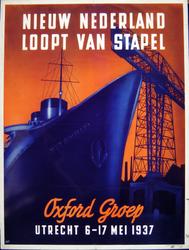 G-0000-0590 Nieuw Nederland loopt van stapel. Oxford groep. Utrecht 6 - 17 Mei 1937.
