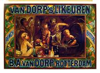 G-0000-0610 B.A. van Dorp, Rotterdam. Van Dorp's Likeuren, Punch, Bitter.