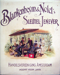G-0000-0622 Blankenheym & Nolet Sleutel Jenever. Handelsvereeniging Amsterdam agent voor Java.