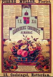 G-0000-0625 Pierre Muller, Florist, Coolsingel 13 Rotterdam. Gardener's Chronicle Almanak 1886.