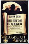 G-0000-0631 Gebouw Odeon Rotterdam. Dinsdag 10 Februari 1942 Bonte Radio-avond. De Ramblers. Vreugde en Arbeid.