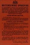 IA-1939-0001 Buitengewone oproeping van de Burgemeester. Voormobilisatie. 24 Augustus 1939.