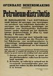 IA-1939-0006 Openbare bekendmaking van de Burgemeester. Petroleum-Distributie.