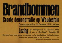 IA-1939-0016 Brandbommen. Groote demonstratie op Woudestein zaterdagmiddag 16 December 1939. Lezing op vrijdagavond 15 ...