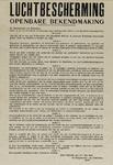 IA-1940-0003A Bekendmaking van de burgemeester. Luchtbescherming.