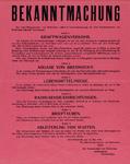 IA-1940-0017 Bekendmaking van de Burgemeester en de commandant van Rotterdam inzake auto's, aflevering benzine, prijzen ...