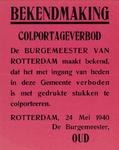 IA-1940-0021 Bekendmaking door de Burgemeester over een colportageverbod. 23 Mei.